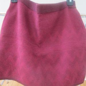 Mossimo Supply Co. Burgundy Skirt